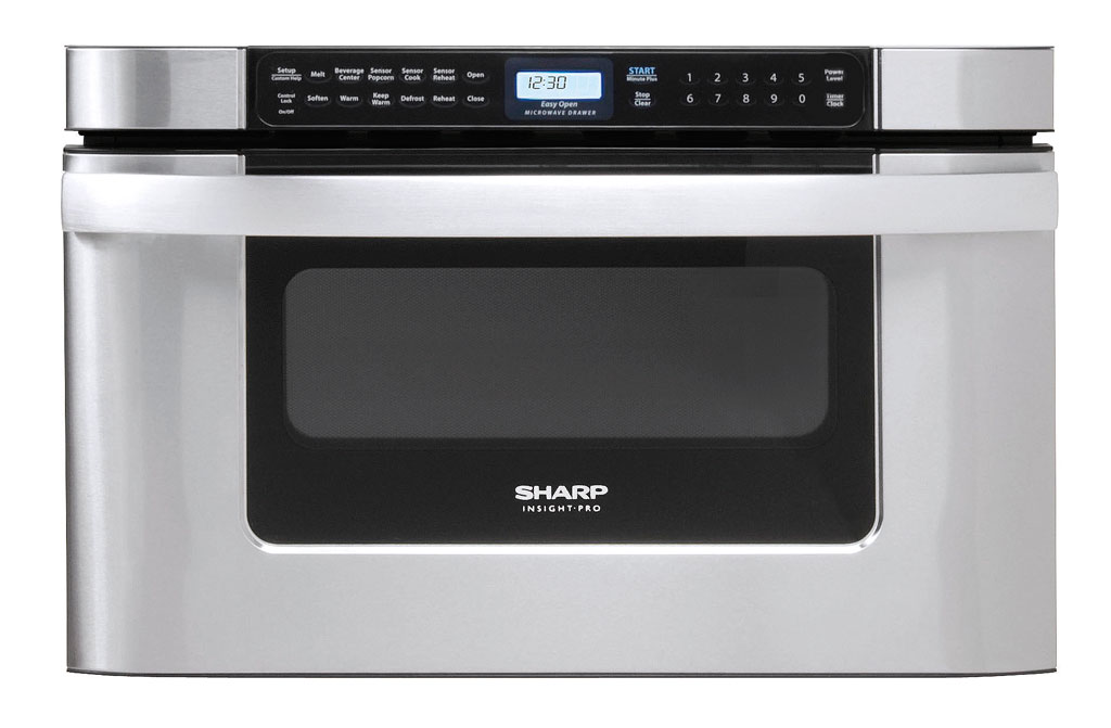 Kb 6524ps microwave drawer oven microwaves sharp for Built in microwave ovens 30 inch