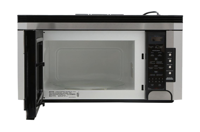Sharp Over The Range Carousel Microwave Oven 1 5 Cu Ft 1000w Stainless Steel R 1514