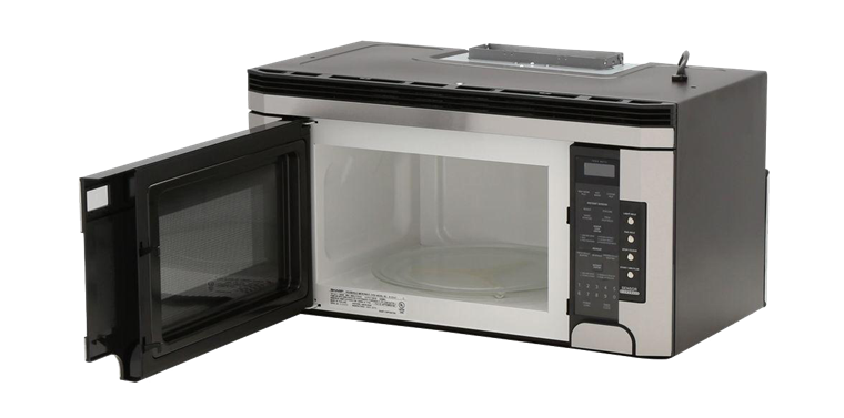 1000w Sharp Stainless Steel Over The Range Carousel Microwave Oven R 1514