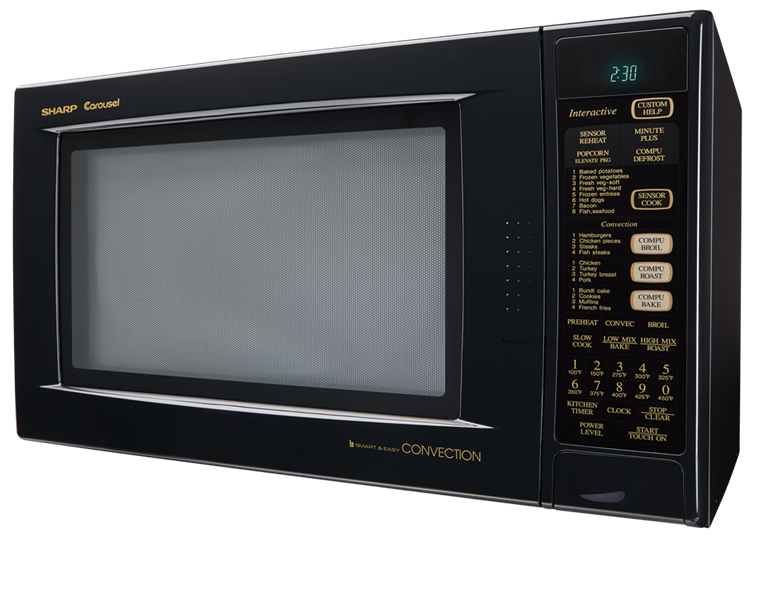 R 930ak Black Convection Microwave Oven 1 5 Cu Ft Oven