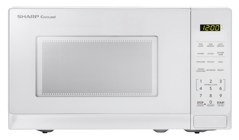 Smc0710bw 0 7 Cu Ft White Carousel Microwave Sharp