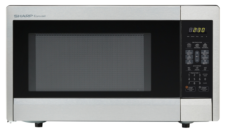 1.1 cu. ft. Sharp Stainless Steel Countertop Microwave (R-331ZS)