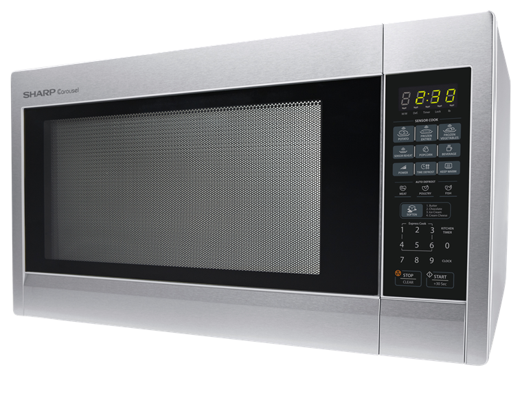 2.2 cu. ft. Stainless Steel Countertop Microwave (R-651ZS) – left side view