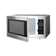 2.2 cu. ft. Stainless Steel Countertop Microwave (R-651ZS) – left angle view with door open