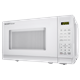 0.7 cu. ft. Sharp White Carousel Microwave (SMC0710BW) – left side view