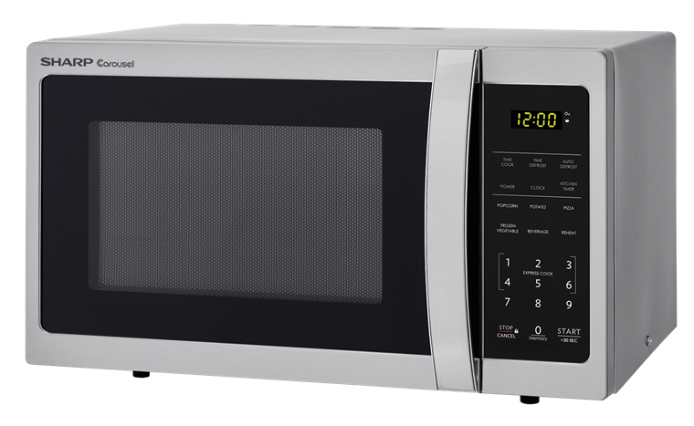 0.7 cu. ft. Sharp Stainless Steel Carousel Microwave (SMC0711BS) – left angle view