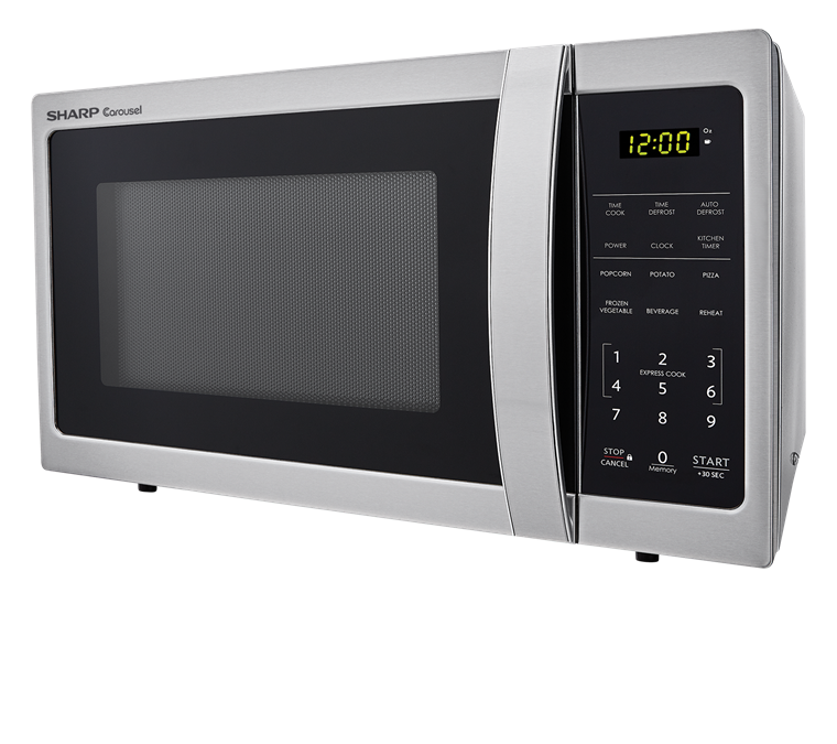0.7 cu. ft. Sharp Stainless Steel Carousel Microwave (SMC0711BS) – left side view