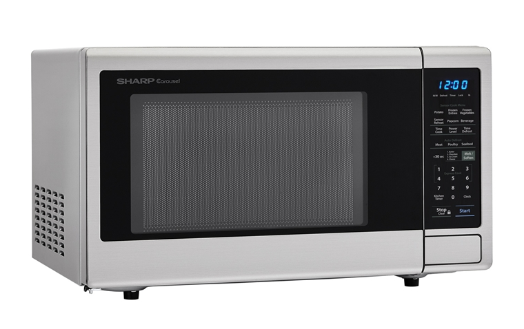 1.4 cu. ft. Sharp Stainless Steel Orville Redenbacher's Microwave (SMC1442CS) – right angle view