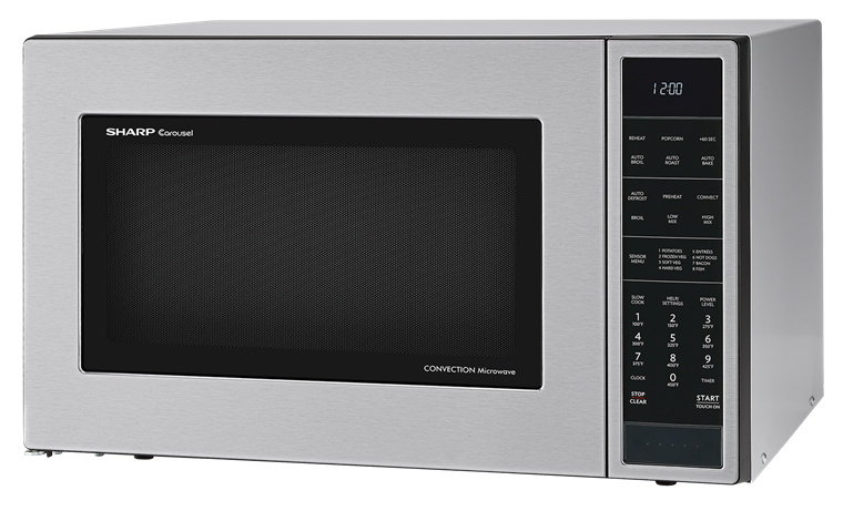 1.5 cu. ft. Stainless Steel Carousel Convection Microwave (SMC1585BS) – left angle view