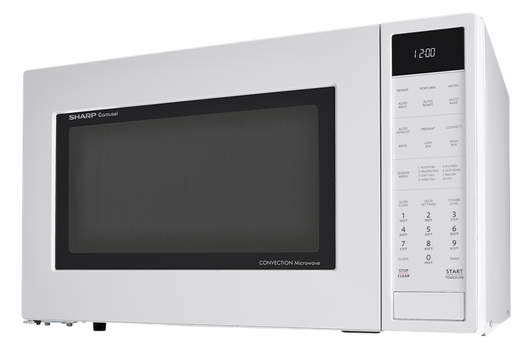 1.5 cu. ft. White Carousel Convection Microwave (SMC1585BW) – left side view