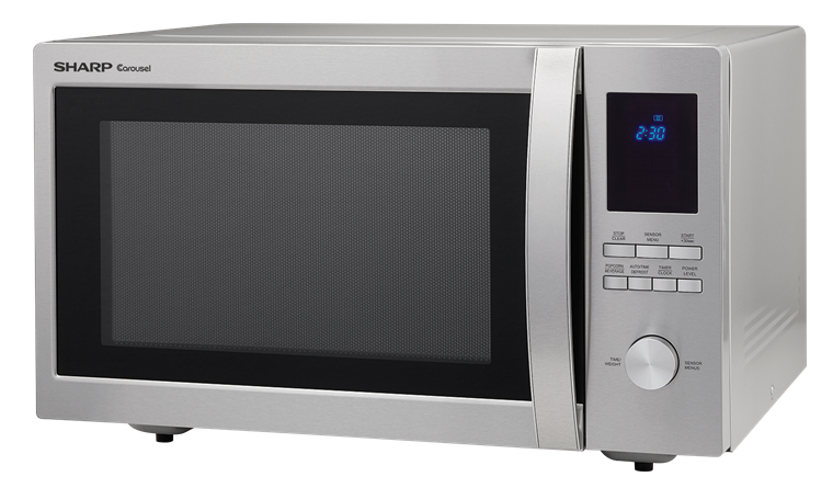 1.6 cu. ft. Sharp Stainless Steel Carousel Microwave (SMC1655BS) – left angle view