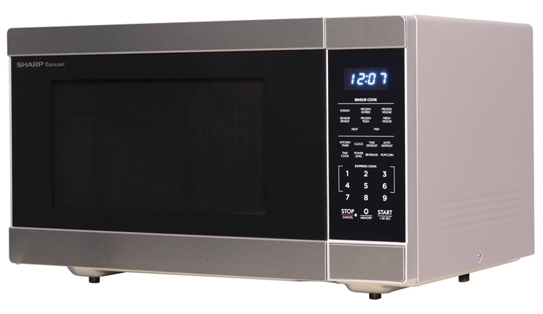 1.6 cu. ft. 1100W Stainless Steel Countertop Microwave Oven (SMC1662DS) – left angle view