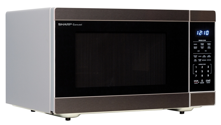 1.6 cu. ft. 1100W Stainless Steel Countertop Microwave Oven (SMC1662DS) – right angle view