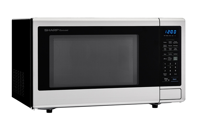 1.8 cu. ft. 1100W Sharp Stainless Steel Countertop Microwave (SMC1840CS) – right angle view