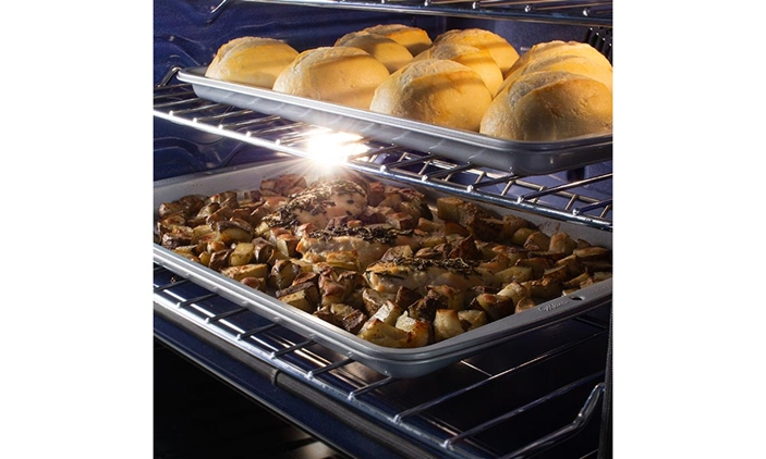 Stainless Steel European Convection Built-In Double Wall Oven (SWB3052DS) – interior light