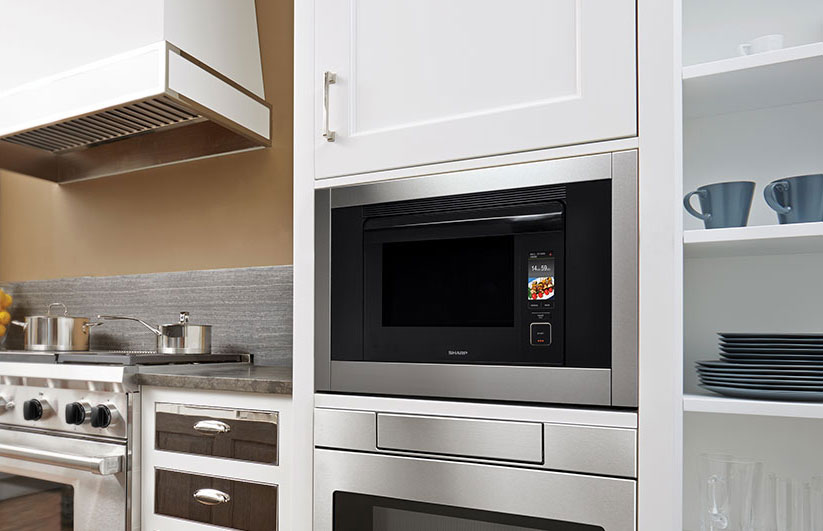 The Oven Comes Built In Ready With A Sleek Trim Kit And Pairs Elegantly Sharp Microwave Drawer