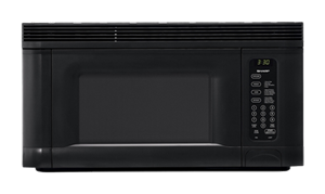 R-1405: Sharp 1.4 Cu. Ft. Black Carousel Over-the-Range Microwave