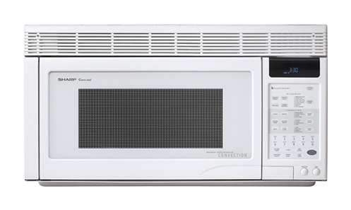 R-1871: 1.1 cu. ft. Sharp White Over-the-Range Microwave