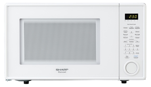 1.1 cu. ft. Sharp White Countertop Microwave (R-309YW)