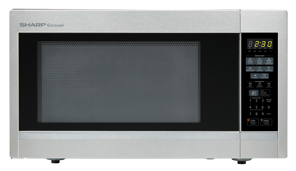 1.8 cu. ft. Sharp Stainless Steel Countertop Microwave (R-551ZS)