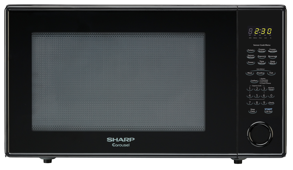 R 659yk 2 2 Cu Ft Black Countertop Microwave Sharp