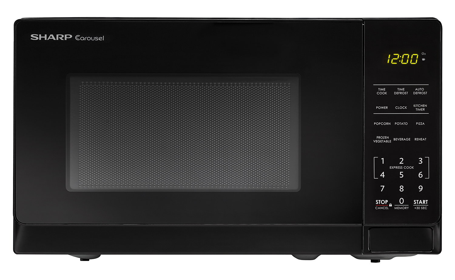 SMC0710BB 0.7 Cu Ft Black Carousel Microwave - SHARP