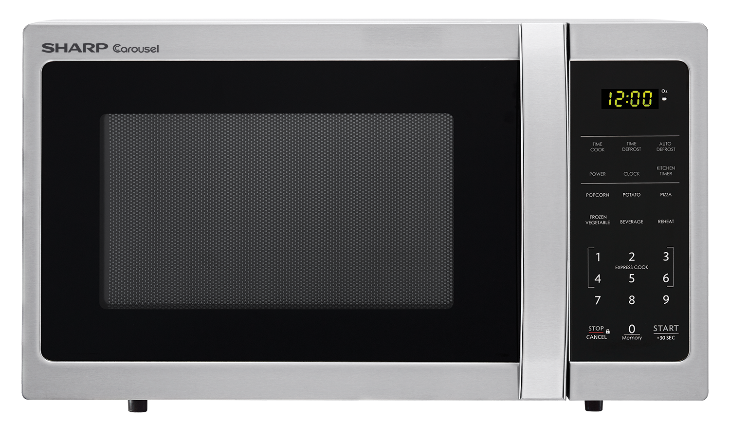 With Innovative Features Like One Touch Controls Auto Defrost And The Carousel Turntable System Sharp Smc0710bw White Microwave Makes