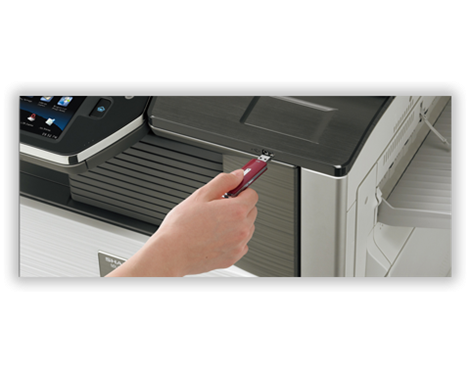 Sharp MFP convenience features