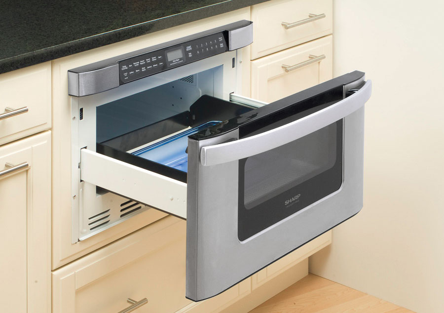 Under Counter Microwave For Easier Works: KB-6524PSY Microwave: 24 Inch Easy Open Microwave Drawer