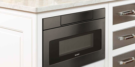 Smd2470ah 24 Quot Black Stainless Steel Microwave Drawer
