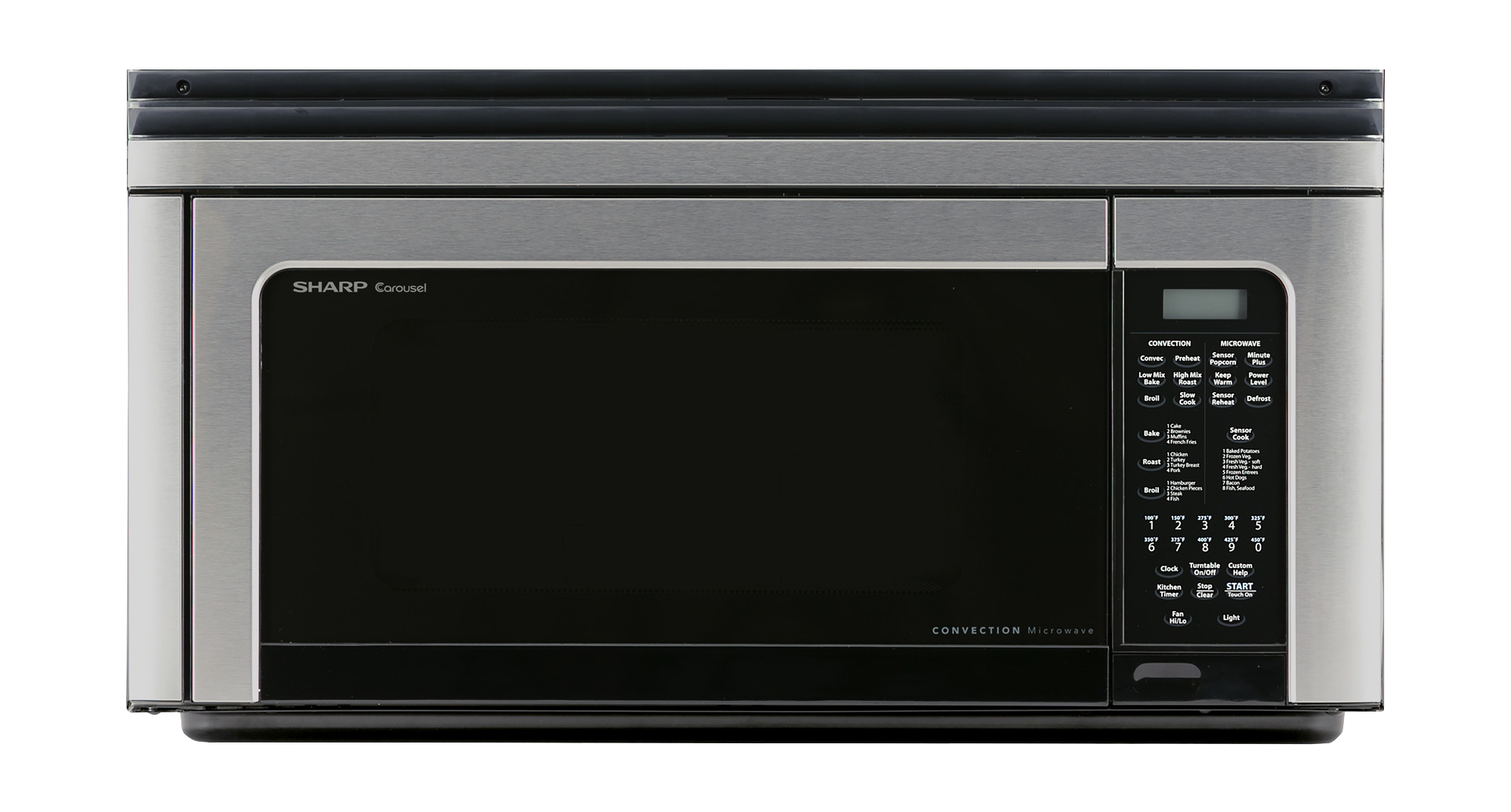 Sharp Carousel 1 Cu Ft 850w Stainless Steel Over The Range Convection Microwave Oven R 1881lsy