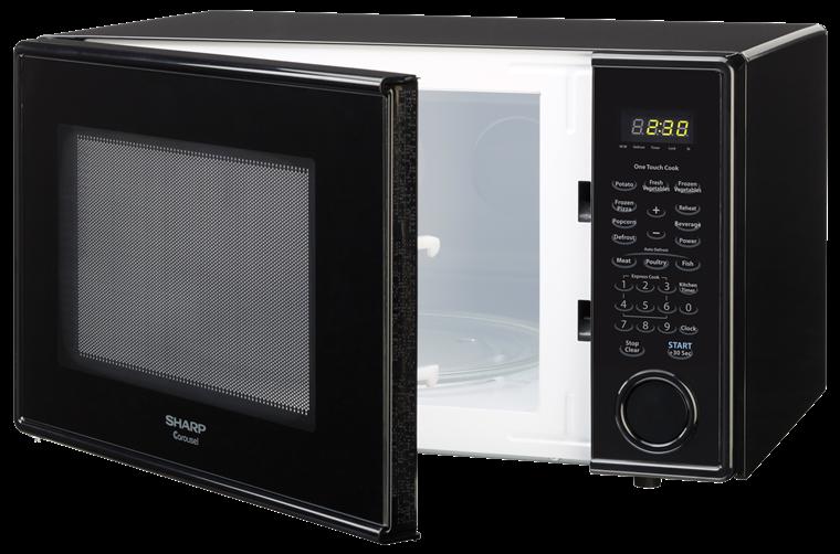 Countertop Microwave Small Footprint : Cu Ft Black Countertop Microwave: R-309YK - SHARP