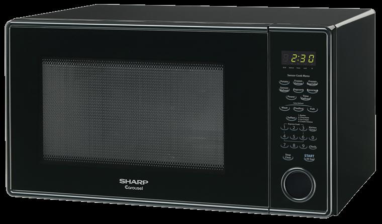 Sharp Black Countertop Microwave R 459yk Left
