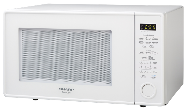 R 559yw White 1 8 Cu Ft Countertop Microwave Sharp