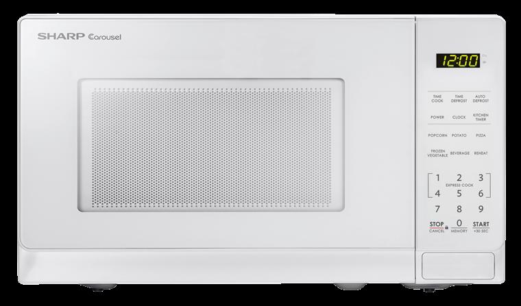Sharp White Carousel Microwave Smc0710bw