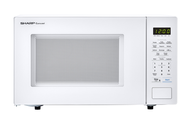 1 Cu Ft 1000w Sharp White Countertop Microwave Smc1131cw