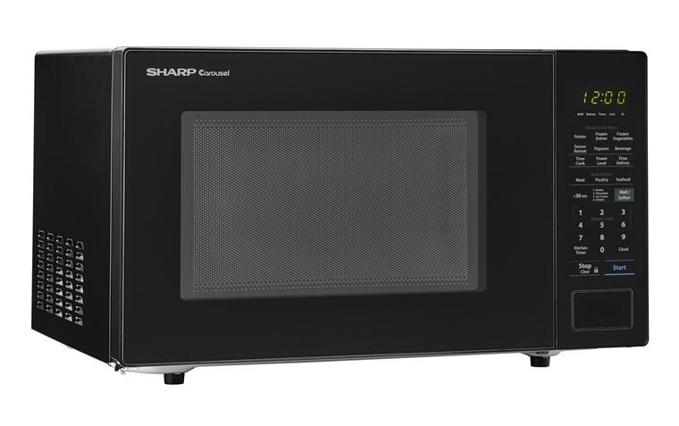Smc1441cb 1 4 Cu Ft Black Countertop Microwave Sharp