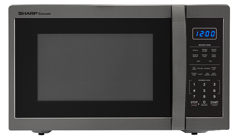 1100w Sharp Black Stainless Steel Countertop Microwave Smc1452ch