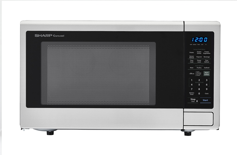 1 8 Cu Ft 1100w Sharp Stainless Steel Countertop Microwave Smc1840cs