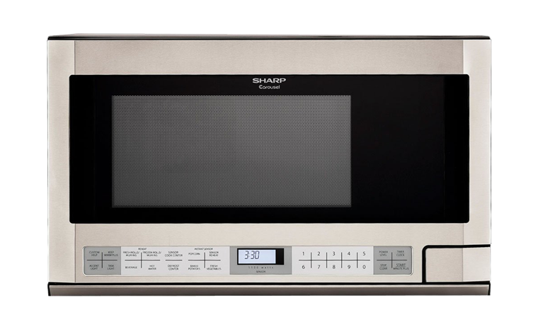 R-1214: 1.5 cu. ft. Sharp Stainless Steel Over-the-Counter Microwave