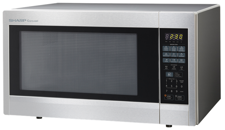 2.2 cu. ft. Stainless Steel Countertop Microwave (R-651ZS) – left angle view