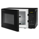 0.7 cu. ft. Sharp Black Carousel Microwave (SMC0710BB) – left angle view with door open