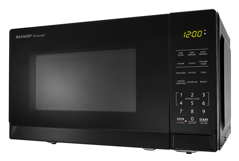 0.7 cu. ft. Sharp Black Carousel Microwave (SMC0710BB) – left side view