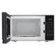 0.7 cu. ft. Sharp Black Carousel Microwave (SMC0710BB) – front view with door open