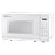 0.7 cu. ft. Sharp White Carousel Microwave (SMC0710BW) – left angle view