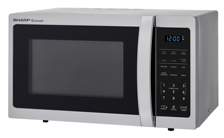 0.9 cu. ft. Sharp Stainless Steel Carousel Microwave (SMC0912BS) – left angle view