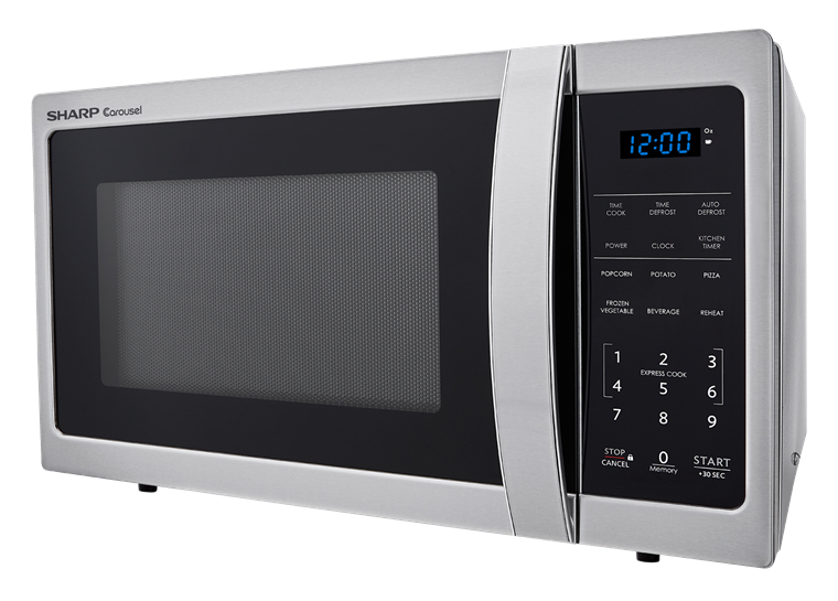 0.9 cu. ft. Sharp Stainless Steel Carousel Microwave (SMC0912BS) – left side view