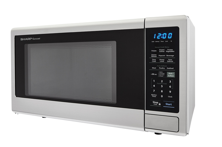 1.4 cu. ft. Sharp Stainless Steel Orville Redenbacher's Microwave (SMC1442CS) – left side view