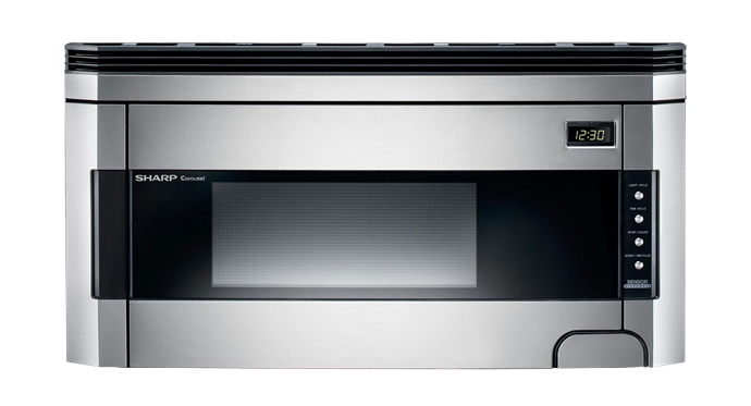 R-1514: Sharp 1.5 cu. ft. Stainless Steel Over-the-Range Microwave
